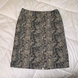 Snakeskin pencil skirt, like new